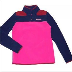 Vineyard Vines Fleece Pullover color-block jacket